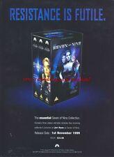 """Star Trek Seven Of Nine """"1st November 1999"""" 1999 Magazine Advert #4497"""