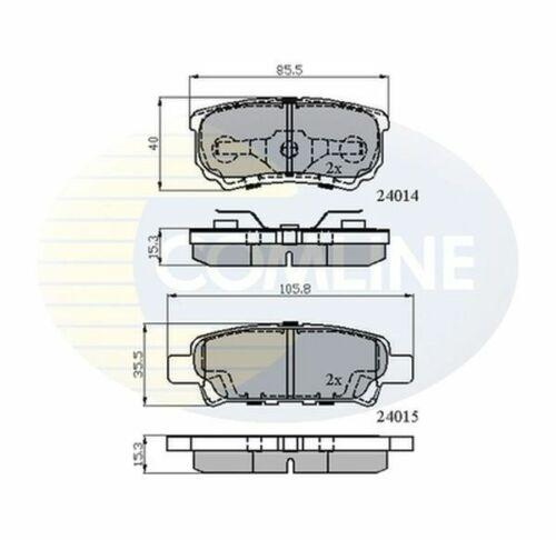 Rear Brake Pads FOR SEBRING JS 2.0 2.4 07-/>10 CHOICE2//2 Diesel Petrol Comline