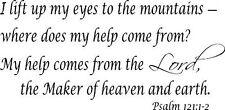 Psalm 121:1-2, 11 x 22 Bible Verse Wall Decal ~ Scripture Wall Art Decor