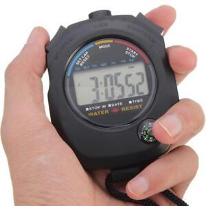 Creative-Digital-Handheld-Sport-Stoppuhr-Stoppuhr-Timer-Alarm-Zaehler