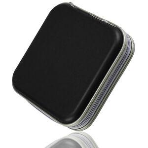 Black-40-Disc-Disk-CD-DVD-Case-Sleeve-Plastic-Bag-Portable-Wallet-Holder-Storage
