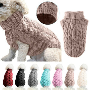 Pet-Dog-Puppy-Cat-Knitted-Jumper-Sweater-Coat-Jacket-Winter-Clothing-Apparel-New