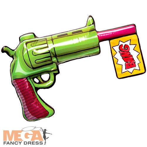 The Joker Inflatable Gun Mens Fancy Dress Villain Weapon Adult Costume Accessory