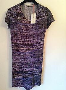 BNWT-100-Auth-See-By-Chloe-Purple-Bodycon-Dress-UK-10-RRP-380