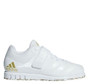 Details about New Mens Adidas Powerlift 3.1 Weightlifting Training Shoes White Gold AC7467