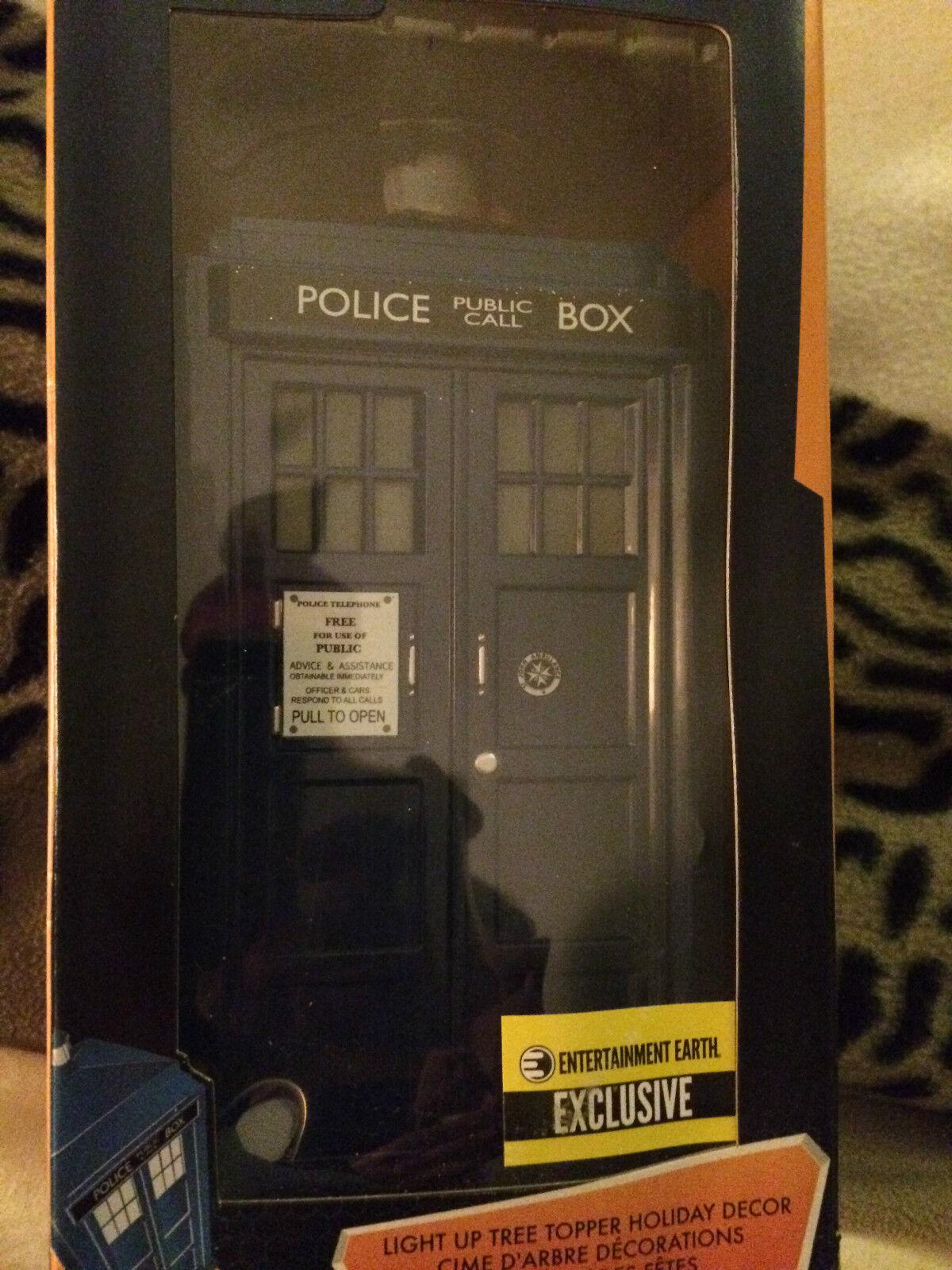 Doctor Who Tardis Kurts Aliso Topper súperior árbol de Navidad