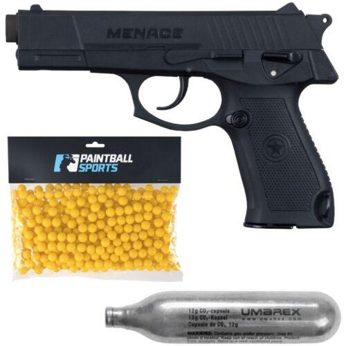 500 Paint 20 Kapseln GI Sportz Menace Paintball Pistole Cal 50 Players Pack