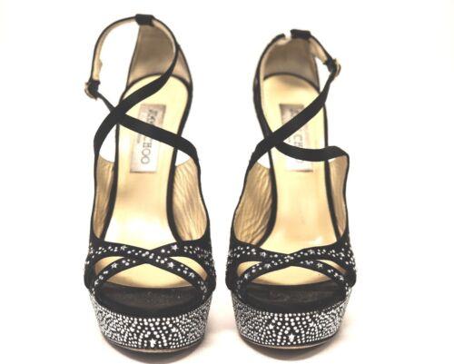 Sandal 820865 Studded Jimmy Choo 38 5Us Black Sz Heels tsdChrQ