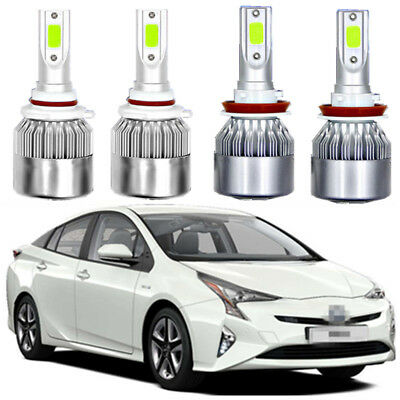 6000K H11 LED Headlight Bulbs for Toyota Prius 2010-2017 Low Beam All Models