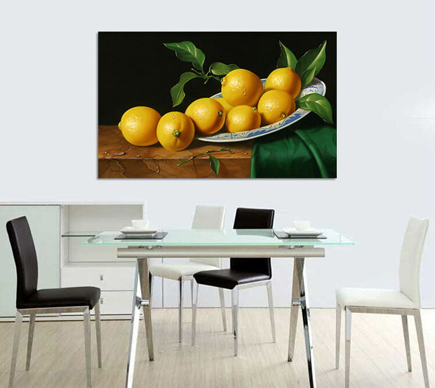 3D Zitronen malerei 682 Fototapeten Wandbild BildTapete AJSTORE DE Lemon