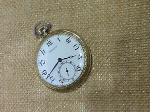 14 SIZE RELIANCE ILLINOIS ELGIN USA 7 JEWELS VINTAGE POCKET WATCH CLEAN