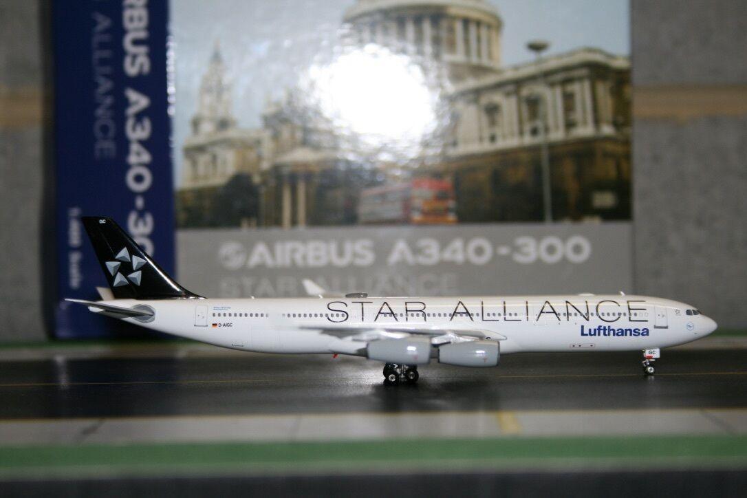 Phoenix 1 400 Lufthansa Airbus A340-300 D-aigc  Estrella Alliance  (PH4DLH966)
