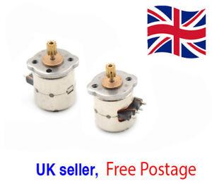 3-5v-dc-2-Phase-4-wire-8mm-diam-Stepper-Motor-8mmx9-5mm-amp-copper-gear-UK-Seller