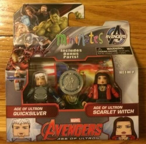 MARVEL MiniMates AGE OF ULTRON SCARLET WITCH /& QUICKSILVER TRU EXCLUSIVE WAVE 61