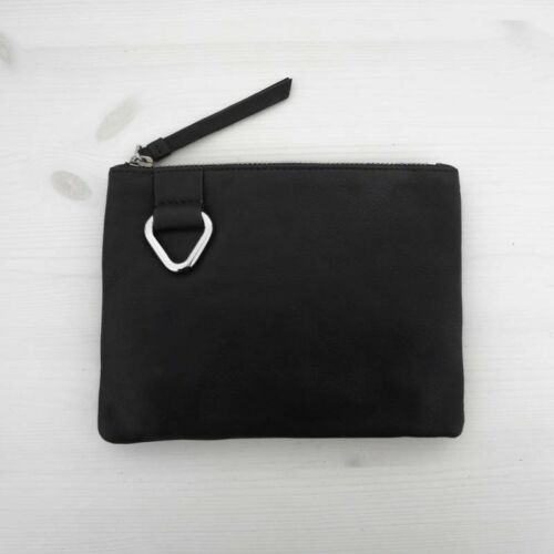 /& Other Stories Tasche beutel leader schwarz Mini leather purse black HOF115