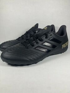 Adidas-Predator-19-4-TF-Turf-Soccer-Shoes-Cleats-Black-F35635
