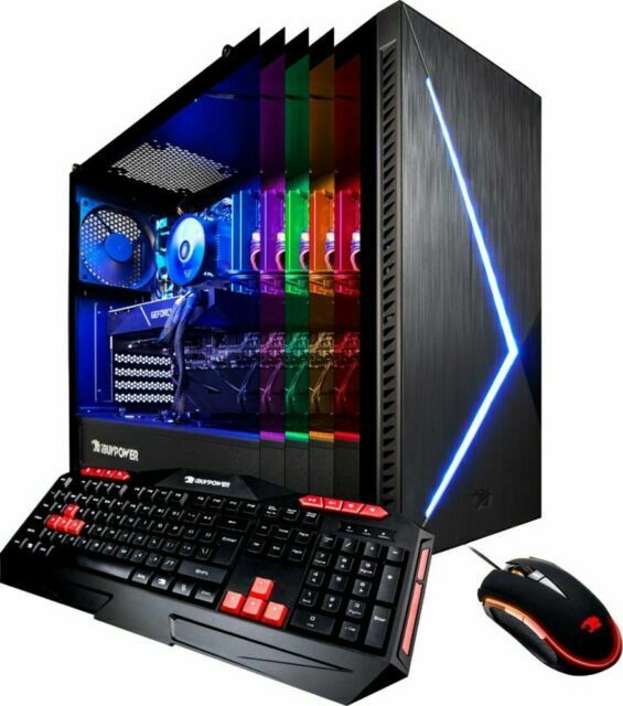 iBuyPower Desktop PC Computer I7 16gb RTX 2070 1tb SSD BB952