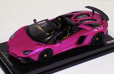 1/18 MR Collection Lamborghini Aventador SV Flash Pink with Italian SV Carbon