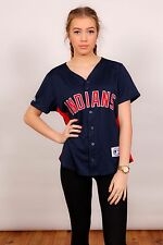 Vintage Majestic Cleveland Indians baseball jersey shirt *24 sizemore MLB