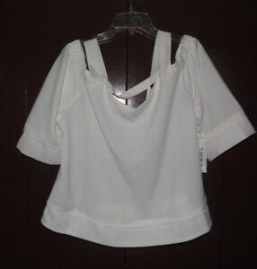 06053088663f7 NWT Women s Size XL White BerkeleyKnit Open Shoulder Top-Alex Marie ...