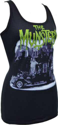 Mesdames noir réservoir Meet The Munsters vintage bmovie Horreur Loup-Garou Vampire S-2XL