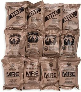 MRE's Meals Ready-to-Eat 6 Complete Meals Authentic U.S. Military FREE SHIPPING