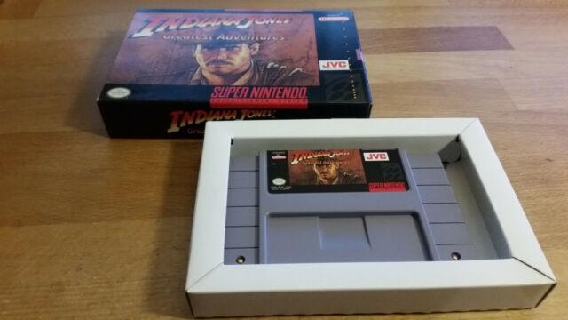 "Indiana Jones ""Greatest Adventures Super Nintendo SNES neuf dans sa boîte en boîte NTSC"