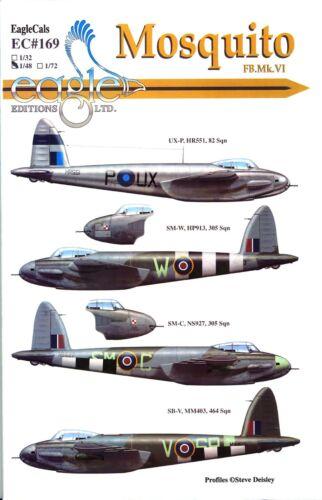 EagleCals Decals 1//48 DE HAVILLAND MOSQUITO FB.Mk.IV Fighter Bomber Part 2