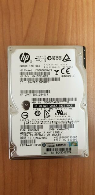 "Hard disk per server HP 600GB 10K SAS 2,5"" P/N: 641552-003 guasto"