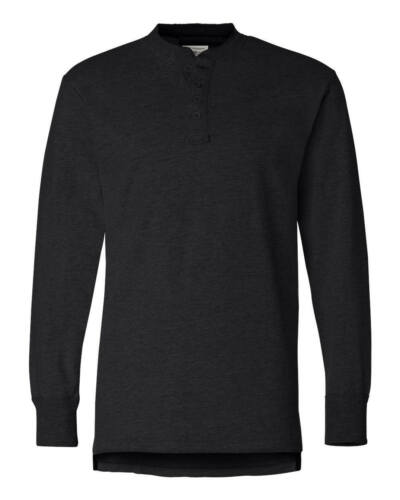 HENLEY SHIRT PULLOVER MEN/'S 4 BUTTON PLACKET S-3XL SIDE VENTS LONG SLEEVE