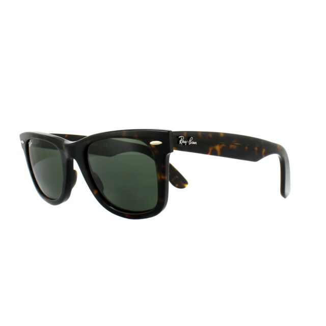 98965c968b3cf Ray-Ban Sunglasses Wayfarer 2140 902 Tortoise Green G-15 Medium 50mm