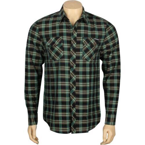 T13F108012BLK $68.00 The Hundreds Nes Woven Long Sleeve Shirt black