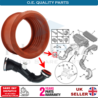 Turbo Sleeve Manicotto Turbo Air in gomma per 206207307308407 EXPERT PARTNER 1.6 HDI 1434C8