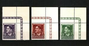 DR-Nazi-3d-Reich-Rare-WW2-Stamp-Hitler-Head-Fuhrer-Birthday-in-Occupation-Poland