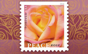 20 USPS STAMPS 2018 FLOWERS PEACE ROSE Forever Postage 1 Booklet
