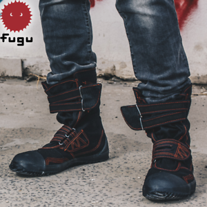 7dd32f50c96 Details about Black Red Fugu Sa-Me Unisex Japanese Shoes & Boots. Perfect  Burning Man Shoes