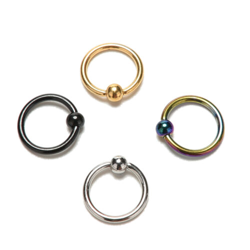 2x Romantic Nose Ring Lip Ear Nose On Ball Piercing Nose Lip Hoop Earring FEH