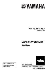 New Yamaha Waverunner XL1200 Ltd 1999 Owners Manual Paperback Free Shipping