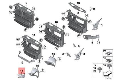 BMW OEM 16-18 X1 Radiator Core Support-Cooling Duct 51747374197
