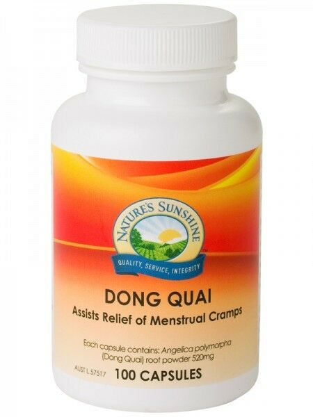 NATURE'S SUNSHINE - DONG QUAI 520MG 100C - ASSISTS RELIEF OF MENSTRUAL CRAMPS