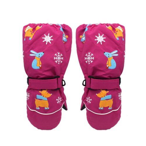Kids Ski Gloves Waterproof Winter Thicken Warm Snowboarding Sport Snow Mittens