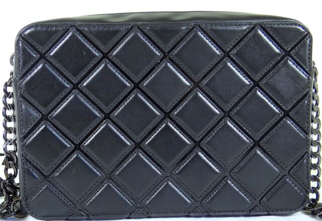 9f08494fbdf5 Michael Kors Jet Set Travel Large East West EW Quilted Crossbody Black
