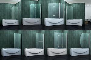 Duschabtrennung-Badewannenaufsatz-Badewannen-Faltwand-Dusche-Duschtrennwand