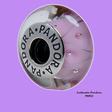Pandora Pink Looking Glass Murano Charm in 925 Sterling Silver, 790922