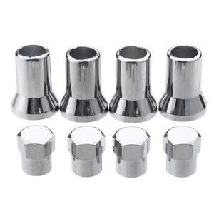 4PCS-set-Chrome-Silver-Plastic-Wheel-Tyre-Tire-Valve-Dust-Caps-Stem-Covers-TR413