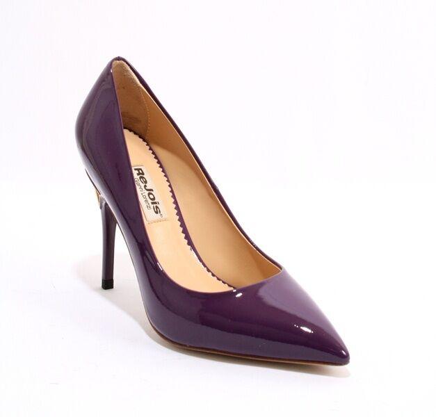 ReJois by Gianni Lorenzi Leder 050i Dark Violet Patent Leder Lorenzi Heels 38.5 / US 8.5 3d02f8