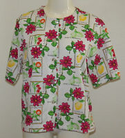 Classic Elements Shirt Women Medium Fruit Essence Lemon Cherry Flower Orange