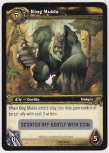 Details about WOW World of Warcraft TCG Unscratched Loot Card King Mukla  Banana Charm WOW PET