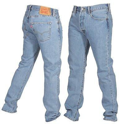 Levis 501 Original Fit Mens Jeans Straight Leg Button Fly ...