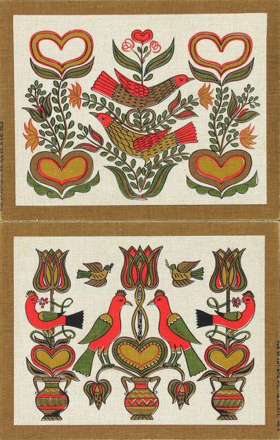 ROBT. DARR WERT Vtg 1950s-60s Set COUNTRY PRINTS Serigraphs BIRD & FLORAL MOTIFS